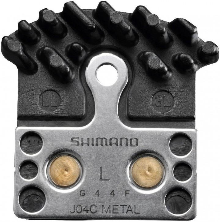 Shimano Bremsbeläge Ice-Tech J04C Metall mit Kühlrippen