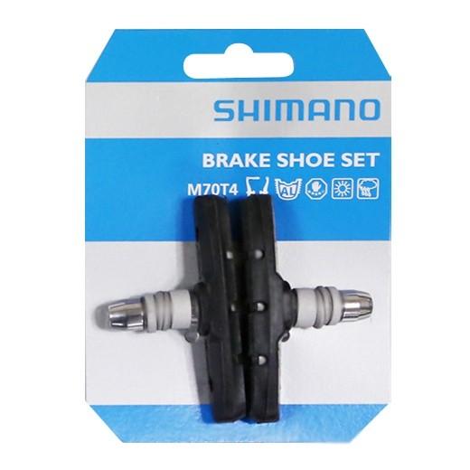 1 Paar Original Shimano Bremsschuhe M70T4  V-Brakes 70 mm schwarz