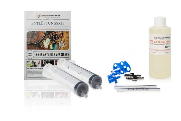 Entlüftungskit Service Kit für Avid / SRAM Scheibenbremsen inkl. 100 ml Bremsflüssigkeit für Avid / SRAM