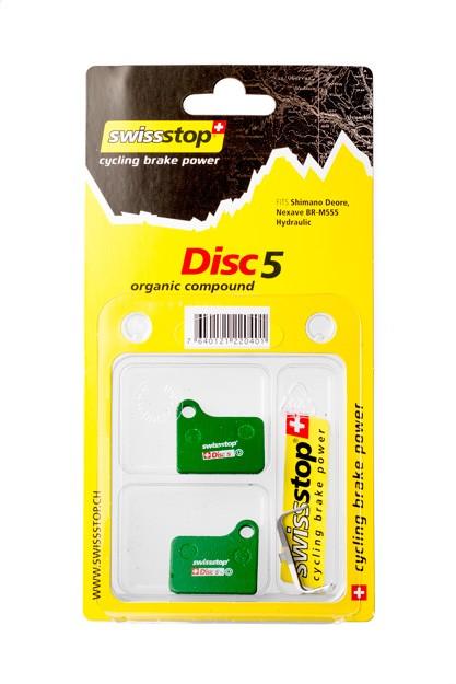 SwissStop Disc 5 Bremsbeläge für Shimano Deore BR-M555 und Nexave BR-C901