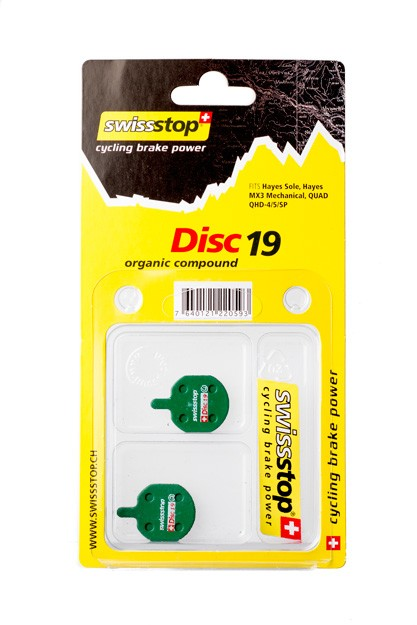 SwissStop Disc 19 Bremsbeläge für Hayes Sole MX3 Mechanical CX5 QUAD QHD-4 / 5 / SP